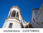 bullfight arena  plaza de toros ... | Shutterstock . vector #1105738001