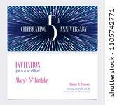 5 years anniversary invitation... | Shutterstock .eps vector #1105742771