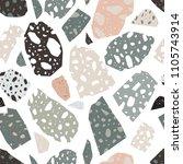 modern terrazzo texture....   Shutterstock .eps vector #1105743914