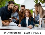 a team of smart qualified... | Shutterstock . vector #1105744331