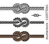 vector black rope knot symbols | Shutterstock .eps vector #110575061