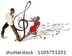 abstract musical background... | Shutterstock .eps vector #1105751351