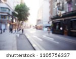 blurred view of london street... | Shutterstock . vector #1105756337