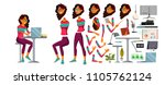 office worker vector. woman.... | Shutterstock .eps vector #1105762124