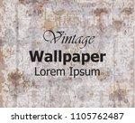 vintage wallpaper vector. royal ... | Shutterstock .eps vector #1105762487