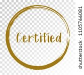 brown certified stamp products... | Shutterstock .eps vector #1105766081