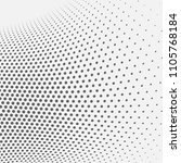 dotted abstract form. vector... | Shutterstock .eps vector #1105768184