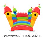 isolated bouncy castle... | Shutterstock .eps vector #1105770611