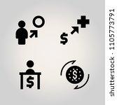 banking icon set. euro  graph ... | Shutterstock .eps vector #1105773791