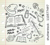 magic stuff in doodle style | Shutterstock .eps vector #110577497