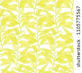 yellow branches. watercolour... | Shutterstock . vector #1105775567
