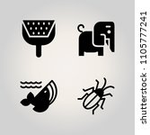 animals icon set. bug  cover ... | Shutterstock .eps vector #1105777241