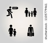 family icon set. urgency ... | Shutterstock .eps vector #1105779461