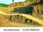 road in stone quarry. descent...   Shutterstock . vector #1105780055
