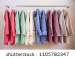 colorful softshell coats on... | Shutterstock . vector #1105782347