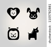 animals icon set. animal ... | Shutterstock .eps vector #1105782881