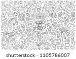 sketchy vector hand drawn... | Shutterstock .eps vector #1105786007