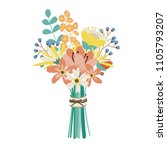 wedding bouquet with flowers ... | Shutterstock .eps vector #1105793207
