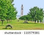 Lighthouse at Montreal Waterfront in  Montreal Quebec, Canada - stock photo