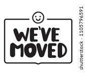 we've moved. flat vector badge...   Shutterstock .eps vector #1105796591