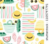 colorful seamless summer... | Shutterstock .eps vector #1105797791