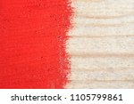 Red Paint On Old Wooden...
