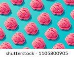 pink strawberry ice cream... | Shutterstock . vector #1105800905