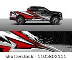 truck decal vector  graphic... | Shutterstock .eps vector #1105802111