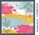 modern art design for scarf | Shutterstock .eps vector #1105803764