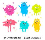 ute monsters set created from... | Shutterstock .eps vector #1105805087