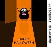 happy halloween. screaming...   Shutterstock .eps vector #1105808849