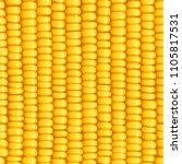 corn cob. organic food seamless ... | Shutterstock .eps vector #1105817531