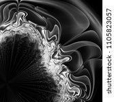 strange abstract background.... | Shutterstock . vector #1105823057