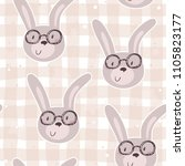 seamless pattern with cute...   Shutterstock .eps vector #1105823177