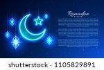 ramadan kareem. template of... | Shutterstock .eps vector #1105829891