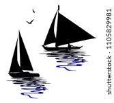 Boats Silhouettes   Vectors Fo...