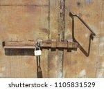metal rust background  metal... | Shutterstock . vector #1105831529