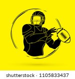 american football player action ...   Shutterstock .eps vector #1105833437