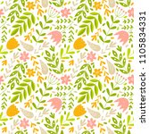 cute floral pattern in the... | Shutterstock .eps vector #1105834331