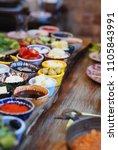 traditional turkish breakfast... | Shutterstock . vector #1105843991