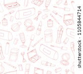 vector cosmetics repeat pattern ... | Shutterstock .eps vector #1105844714