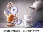 still life with of the pouring... | Shutterstock . vector #1105845995
