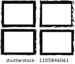 grunge frame. vector... | Shutterstock .eps vector #1105846061