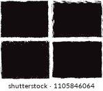 grunge frame. vector... | Shutterstock .eps vector #1105846064
