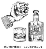 vintage american whiskey badge. ... | Shutterstock .eps vector #1105846301