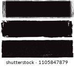 vector paint stain.black brush... | Shutterstock .eps vector #1105847879