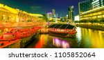 scenic clarke quay riverside... | Shutterstock . vector #1105852064