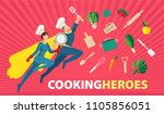 web banner concept with flat... | Shutterstock .eps vector #1105856051
