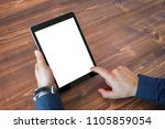 business man using tablet... | Shutterstock . vector #1105859054