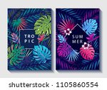 creative floral covers design.... | Shutterstock . vector #1105860554